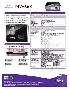 MW663 Specification Sheet - opens PDF