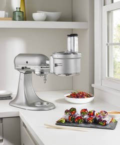 Contour Silver Stand Mixer with Food Processor Attachment