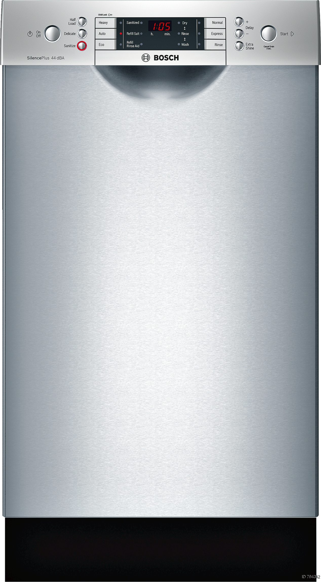 Superieur Bosch 800 18 In Stainless Steel Dishwasher With Water Softener (Actual:  17.625