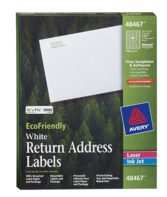 avery rectangle 0 50 x 1 75 mailing label 8000 per box white