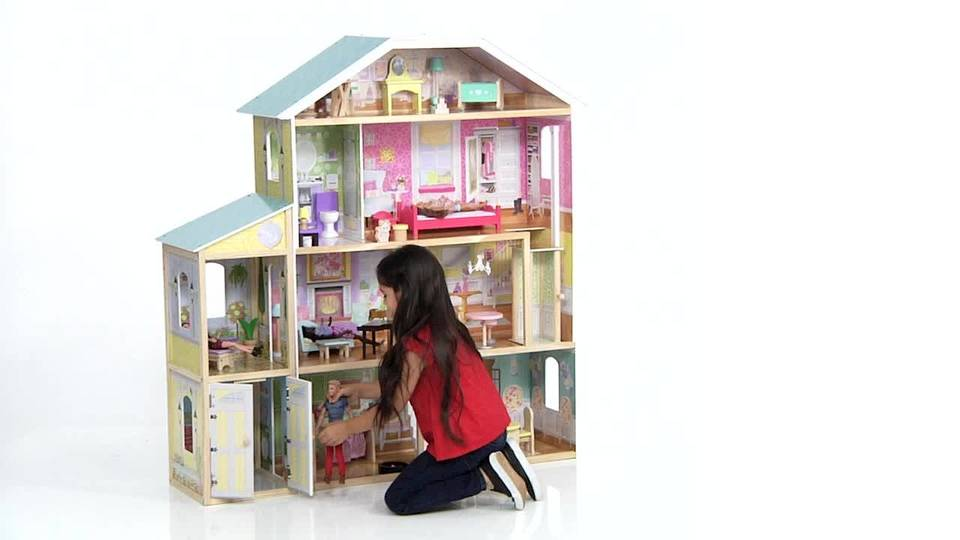 easy to make dollhouse furniture kidkraft majestic mansion dollhouse with 34 accessories walmartcom