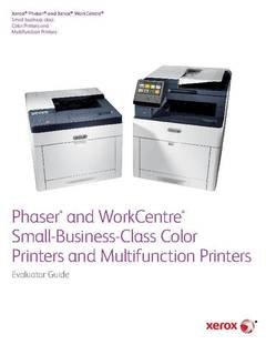 Small Business Class Color Printers And Multifunction Evaluator Guide
