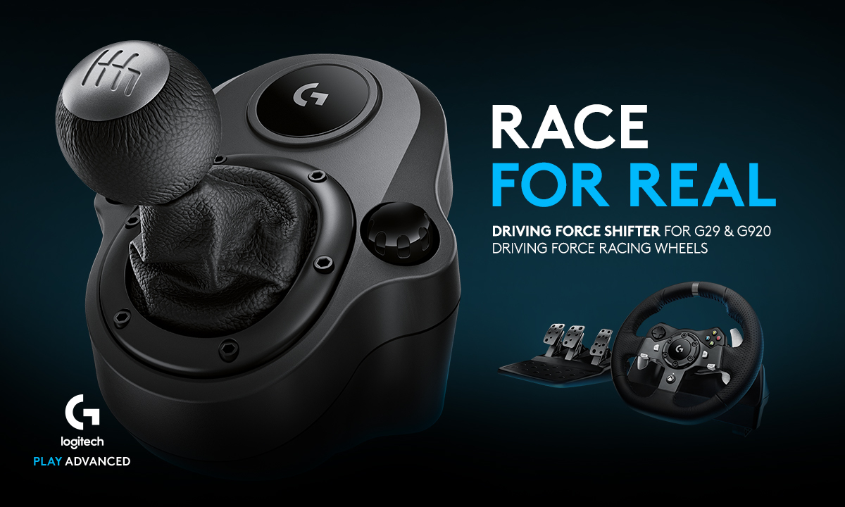 RACE FOR REAL. Driving Force Shifter for G29 & G920 Driving Force Racing Wheels
