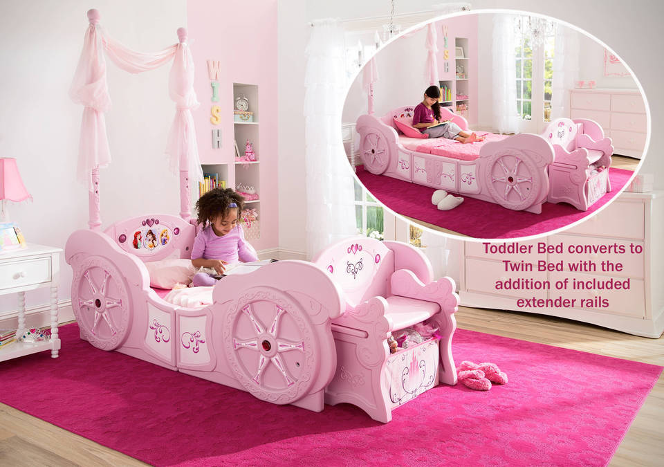 disney princess carriage toddler to twin bed - Girls Twin Bed Frame
