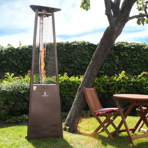 Safety Built In - Lava Heat Italia Lava Lite KD Liquid Propane Gas Patio Heater