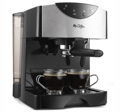 Mr. Coffee Espresso Maker, Stainless Steel and Black, BVMC-ECM260 - Walmart.com