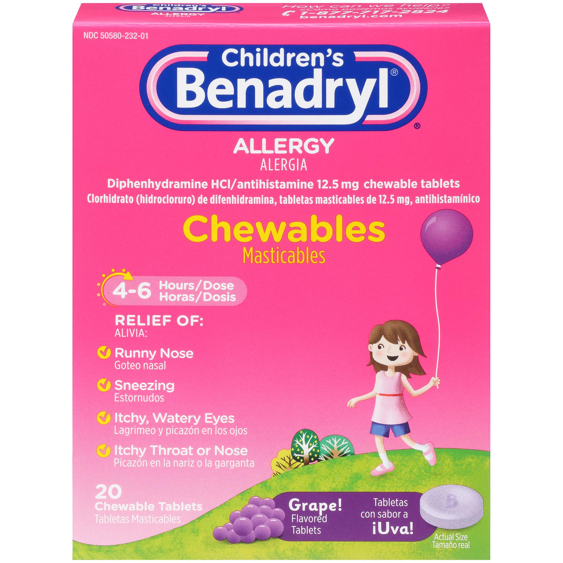 Children's Benadryl Allergy Ch...
