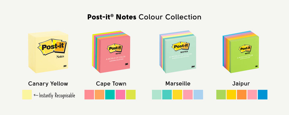 Post-it original notes colour collection
