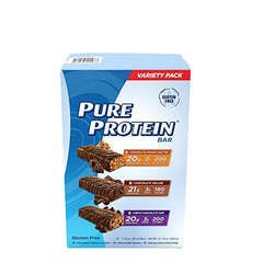 Pure ProteinR Protein Bar Variety Pack 18 Count Bars Chocolate Peanut Butter 176 Oz 12 Birthday Cake