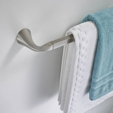 the oxby towel bar comes with mounting hardware and a convenient template that helps take the guesswork out of