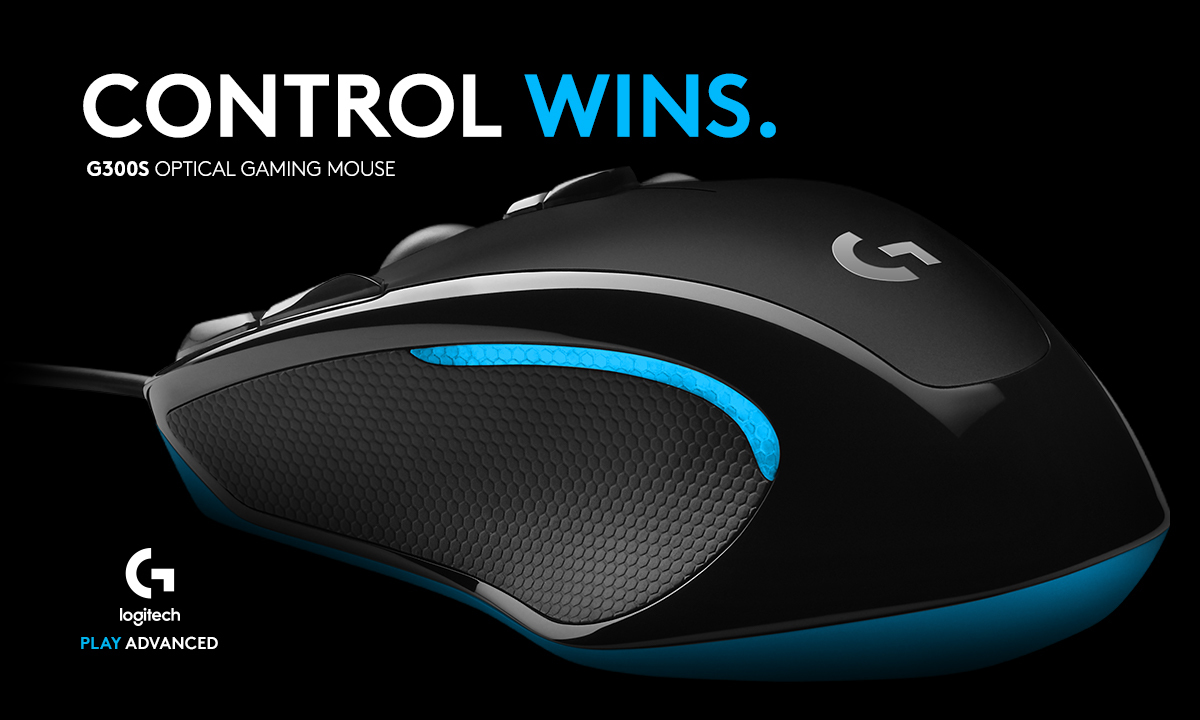 CONTROL WINS. G300S OPTICAL GAMING MOUSE