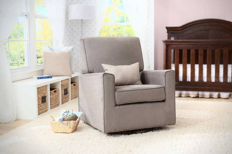 ava upholstered glider - Swivel Rocker Chair