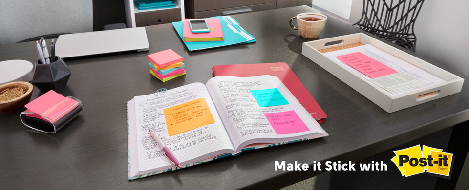 Make it stick with post-it notes