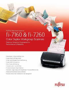View Datasheet for FUJITSU Document Scanner fi-7160 PDF