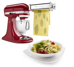 Empire Red Stand Mixer with Pasta Roller Attachment