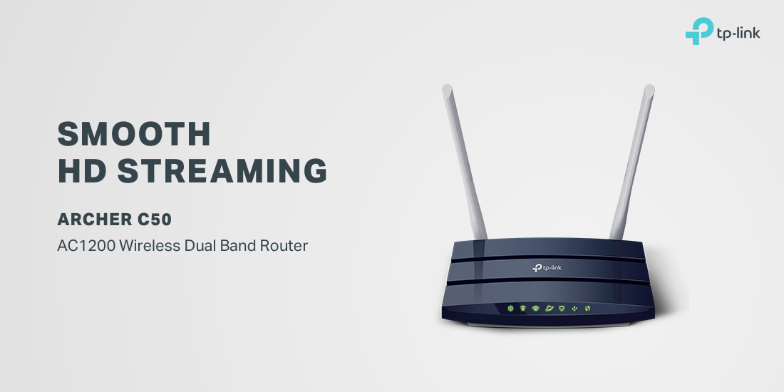 TP-LINK AC1200 Wireless Dual Band Router (Archer C50) | Dell USA