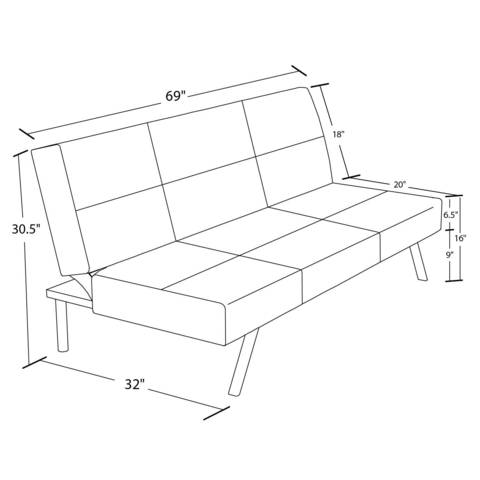 Futon Size Average Furniture