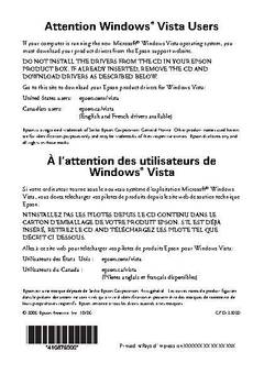 Attention Windows Vista Users