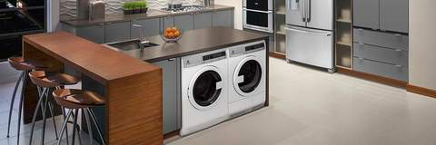 Electrolux Compact Laundry Pair in laundry room vignette
