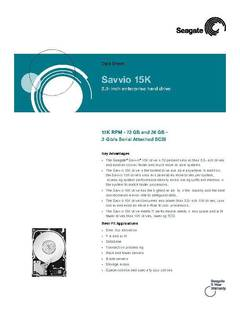View Savvio 15K Data Sheet PDF