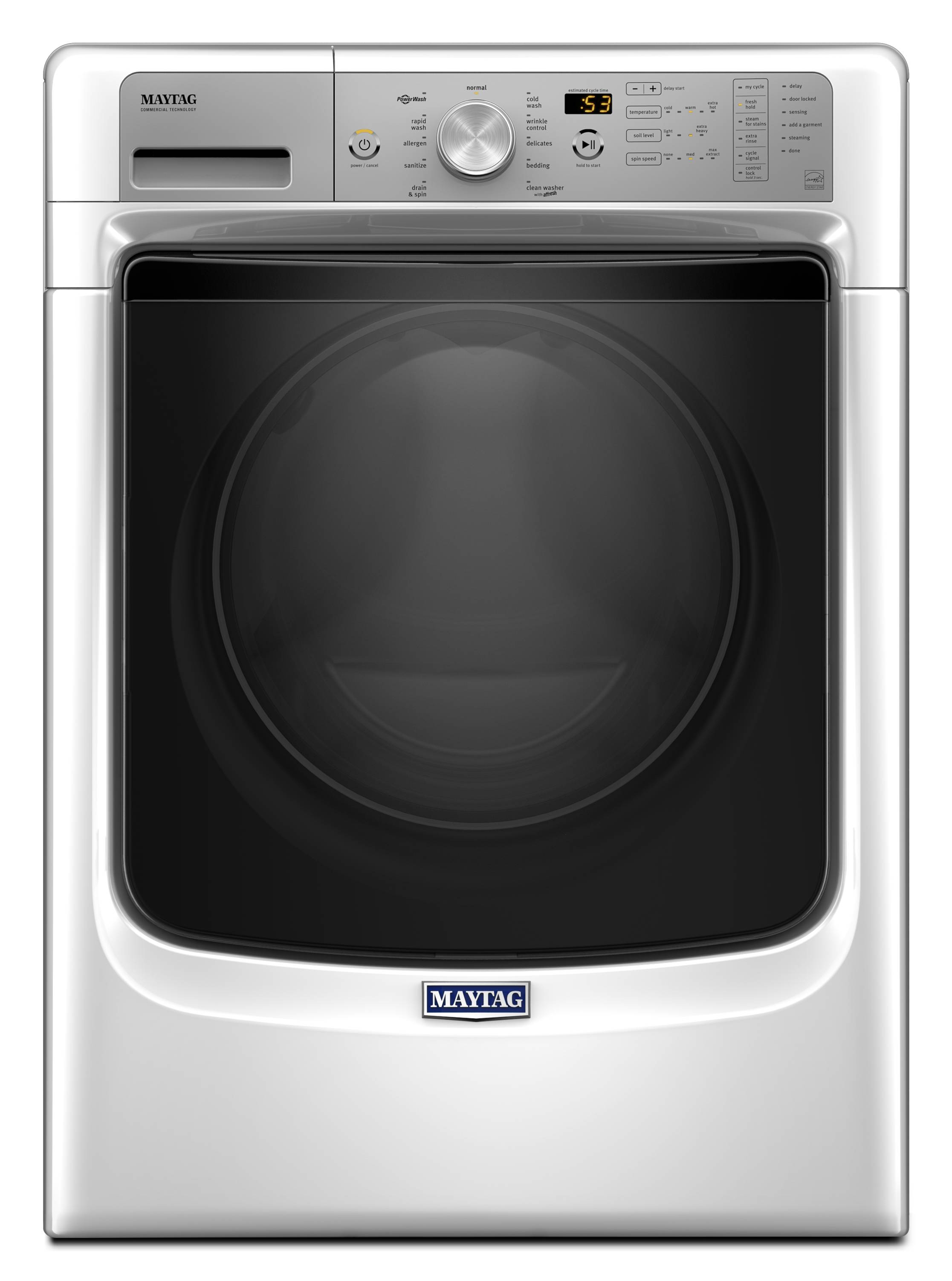 Maytag Fresh Hold 4 5 Cu Ft High Efficiency Stackable Front Load Washer