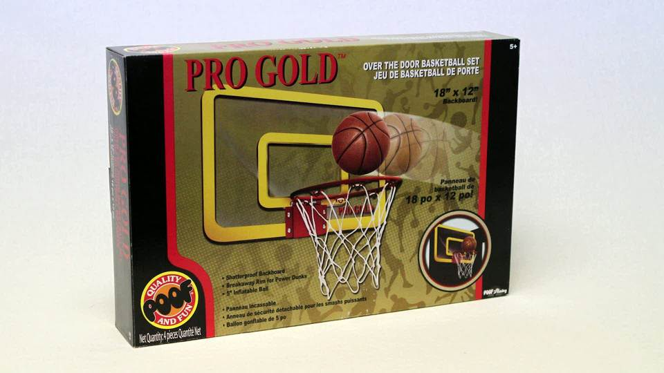 POOF-Slinky 455BL POOF Pro Gold Over The Door 18-Inch Breakaway Rim Basketball Hoop Set with Clear Shatterproof - Walmart.com : basketball door - Pezcame.Com