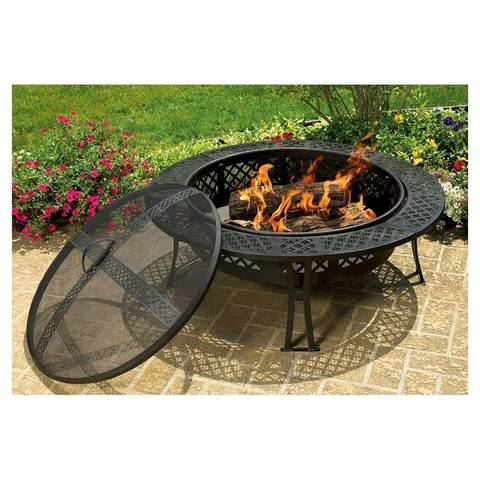 CobraCo Diamond Mesh Fire Pit Walmartcom