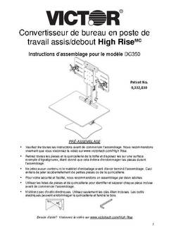 View DC350 Assembly Instructions - French PDF