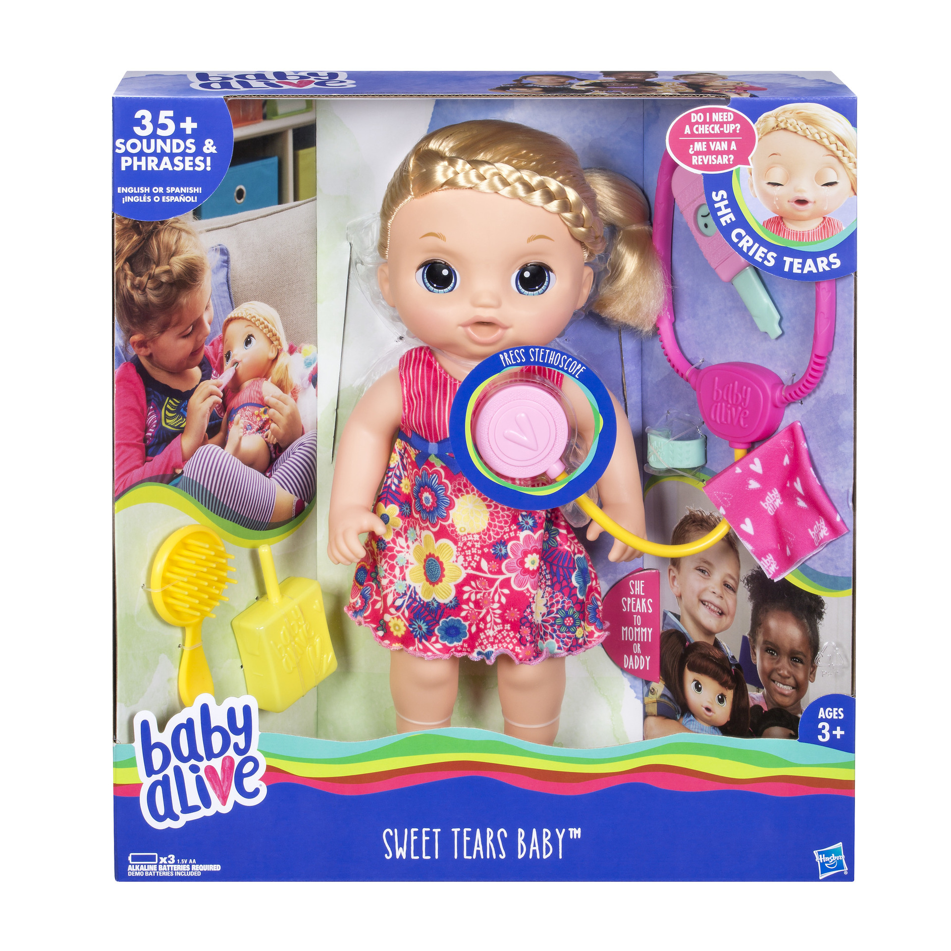 Includes Doll Outfit Stethoscope Thermometer Bandage Tissue Juice Box Brush And Instructions