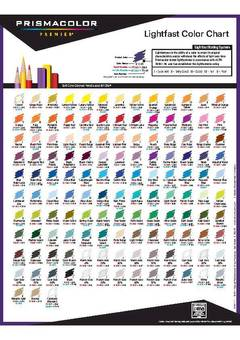 View Premier Pencil Lightfast Color Chart PDF