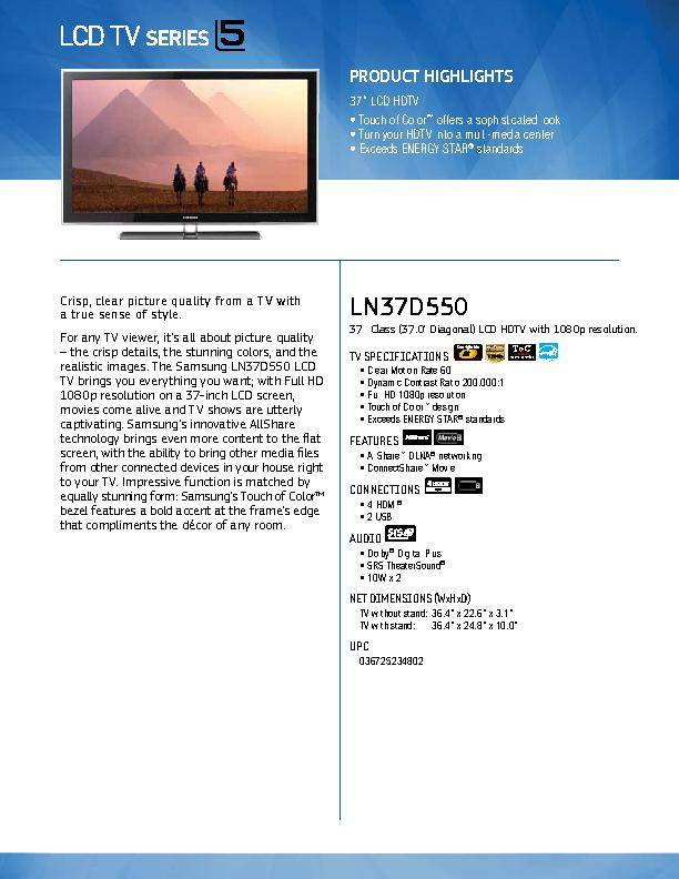 samsung 46 lcd 1080p manual
