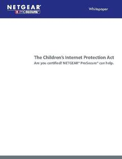 The Child Internet Protection Act and NETGEAR ProSecure