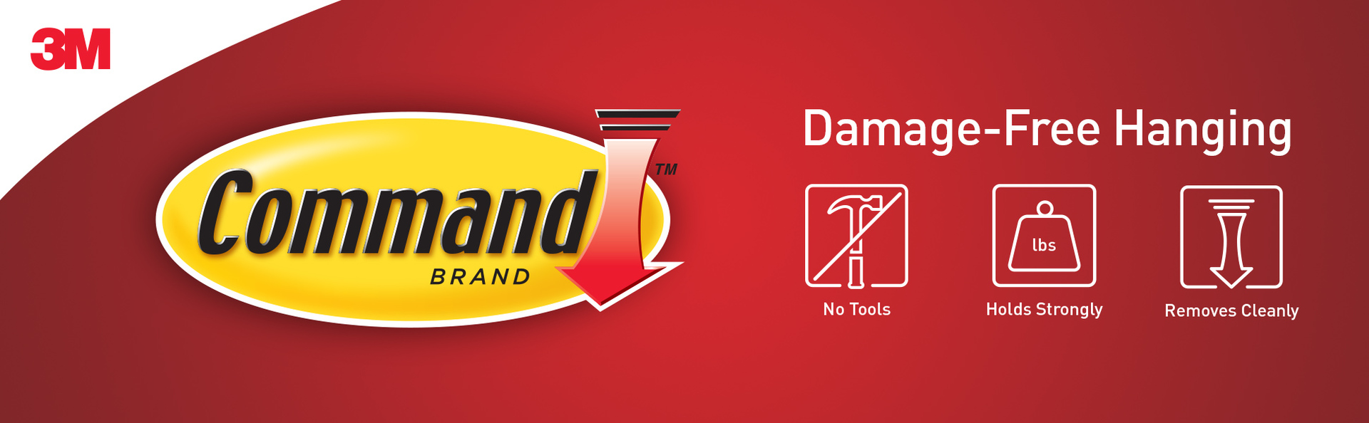 Command Brand: Damage-Free Hanging, no tools, holds strongly and removes cleanly