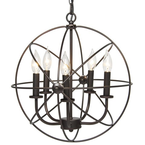 Industrial Vintage Lighting Ceiling Chandelier 5 Lights Metal