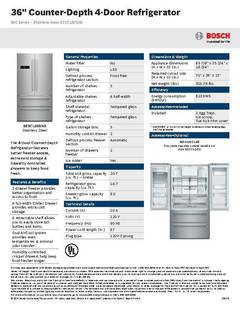 View B21CL80SNS - Spec Sheet PDF