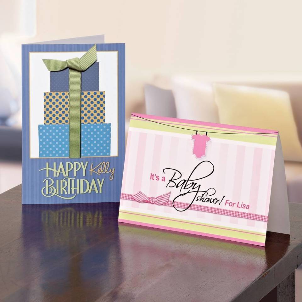 Avery Half Fold Textured Greeting Cards 5 12 X 8 12 White