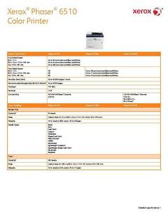 View Phaser 6515 Detailed Specifications PDF