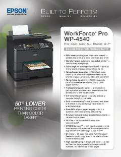 WorkForce Pro WP-4540 Product Specifications