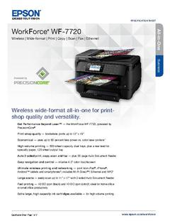 View Epson WorkForce WF-7720 Product Specifications PDF
