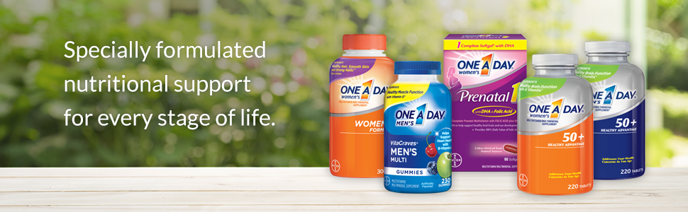 One A Day® Men's 50+ Healthy Advantage Multivitamin/Multimineral Supplement  Tablets 220 ct Bottle