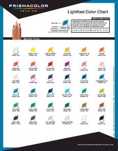 Water-Soluble Pencil Lightfast Color Chart