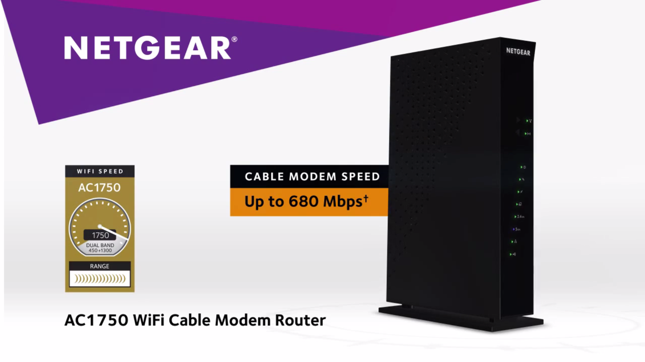 NETGEAR AC1750 Cable Modem Router | Nebraska Furniture Mart