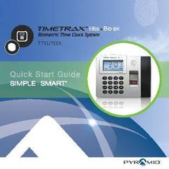 View TimeTrax Elite Biometric Time Clock Quick Start Guide PDF
