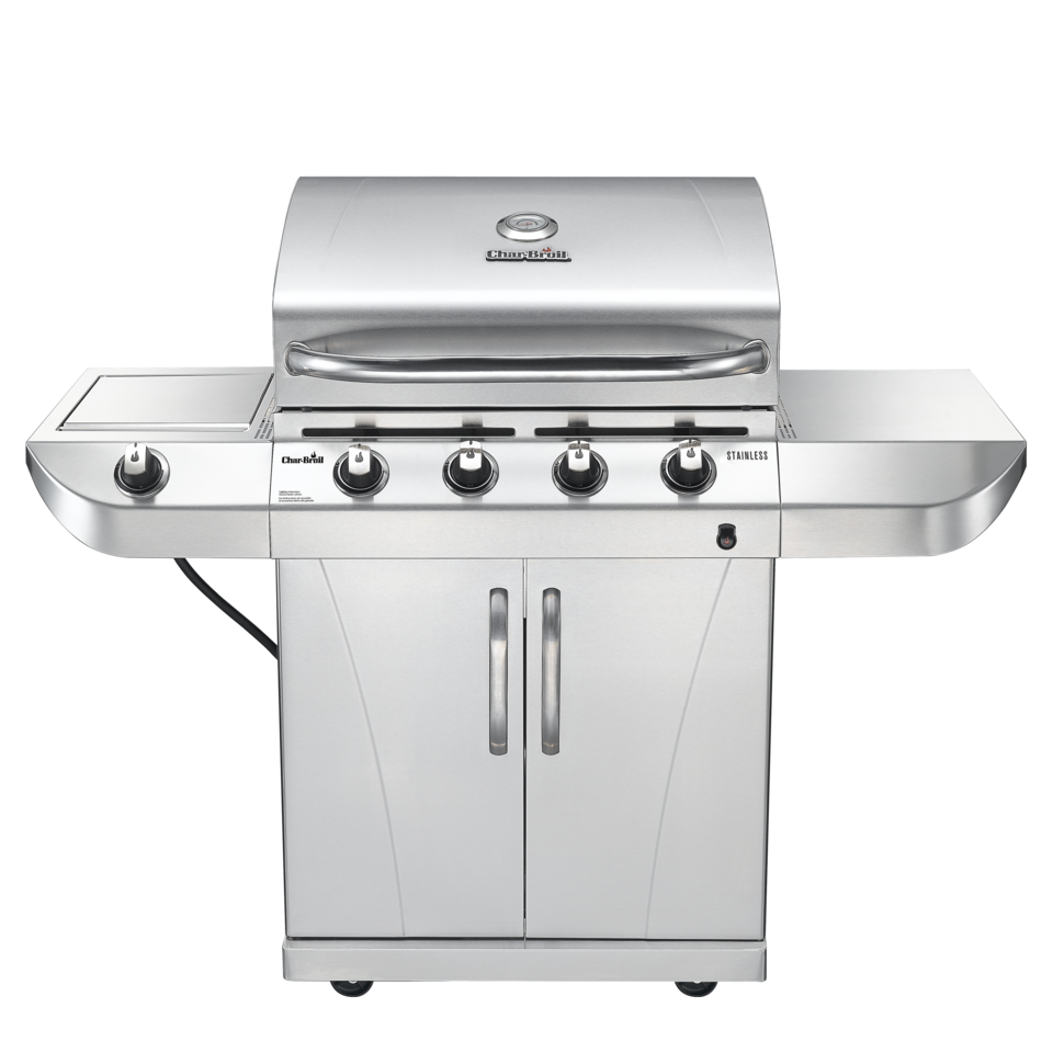 char broil 4 burner gas grill all black walmart com