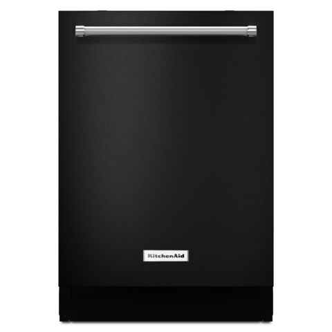KitchenAid 39-Decibel Built-In Dishwasher (Black) (Common: 24-in