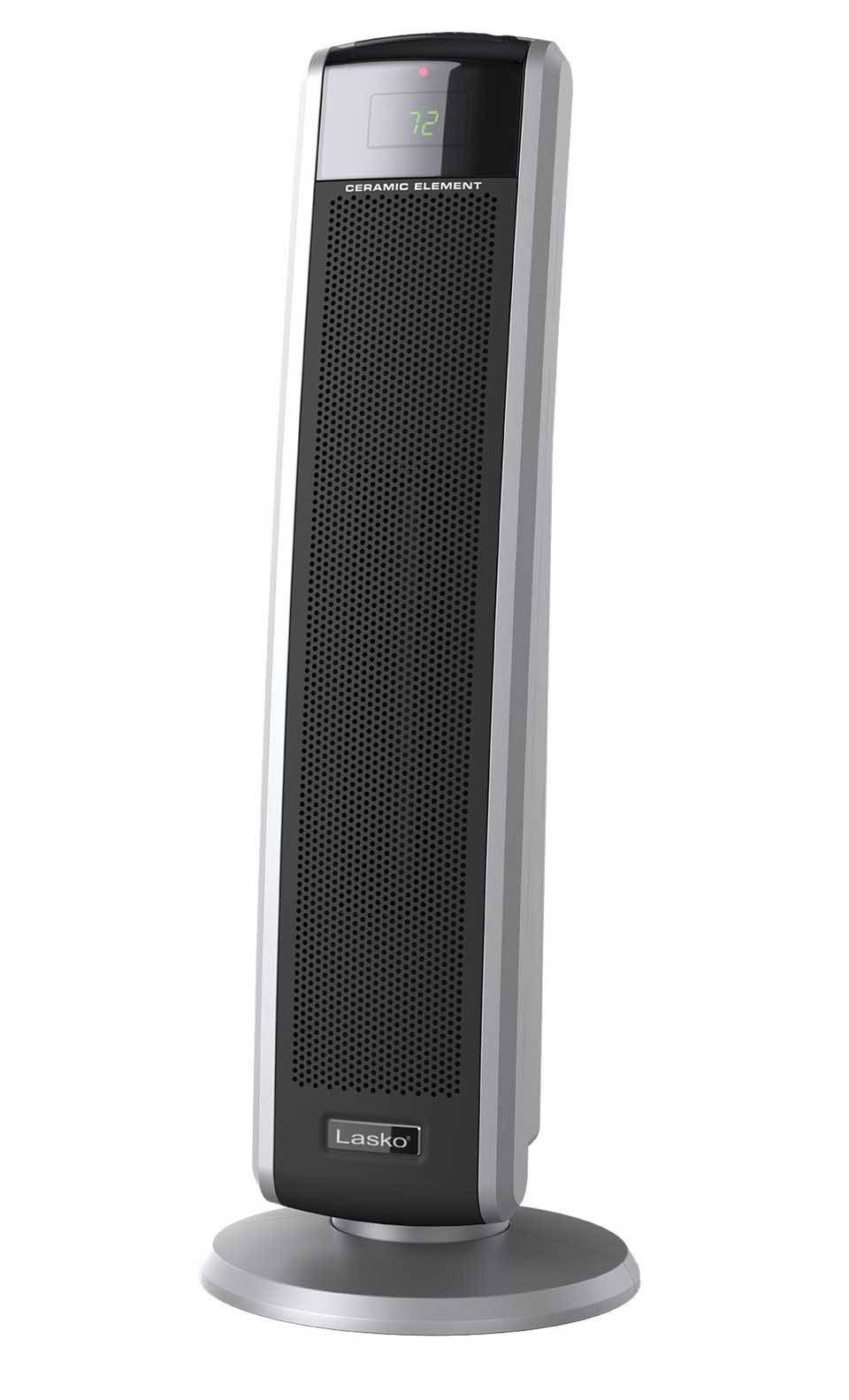 lasko ceramic tower heater lasko electric oscillating ceramic 1500 watt tower heater 30790