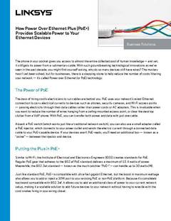 View How Power Over Ethernet is Scalable PDF