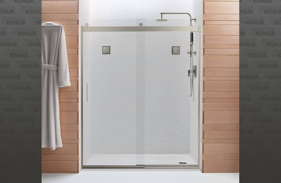 Levity 56 625 In To 59 W Frameless Byp Sliding Bright Silver Shower Door