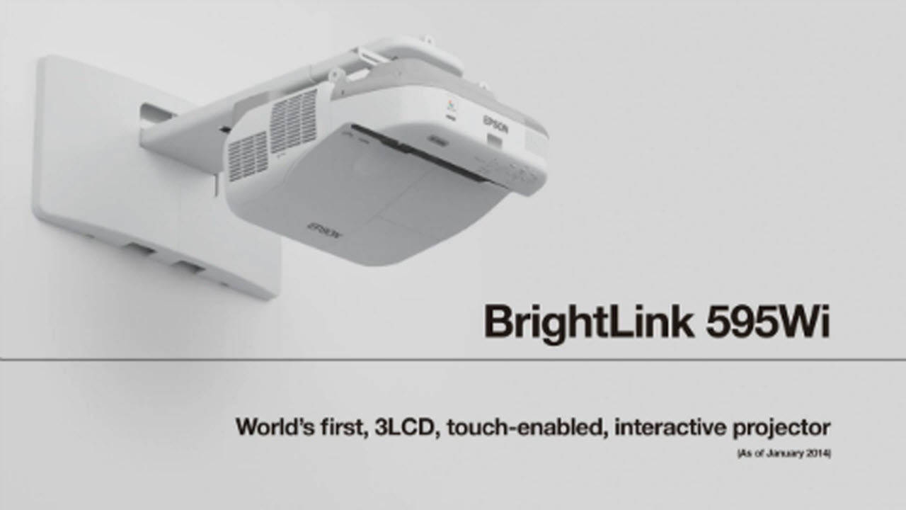 BrightLink 595Wi Projector Product Overview