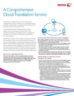 View Xerox® Easy Translator Service PDF